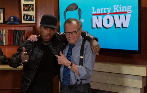 Kid Ink and Larry King. (Credit ORA Media. Photographer Clay Pritchard.)