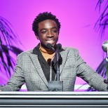 PASADENA, CA - JANUARY 14: Caleb McLaughlin accepts award for Outstanding Yout/Child Actor at the 49th NAACP Image Awards Non-Televised Awards Dinner at the Pasadena Conference Center on January 14, 2018 in Pasadena, California. (Photo by Earl Gibson III/Getty Images) *** Local Caption *** Caleb McLaughlin