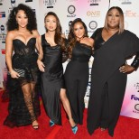 PASADENA, CA - JANUARY 14: (L-R) Hosts Tamera Mowry-Housely, Jeannie Mai, Adrienne Houghton and Loni Love at the 49th NAACP Image Awards Non-Televised Awards Dinner at the Pasadena Conference Center on January 14, 2018 in Pasadena, California. (Photo by Earl Gibson III/Getty Images) *** Local Caption *** Tamera Mowry-Housley;Jeannie Mai;Adrienne Houghton;Loni Love