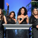 PASADENA, CA - JANUARY 14: (:L-R) Hosts Jeannie Mai, Adrienne Houghton, Tamera Mowry-Housley and Loni Love s peak onstage at the 49th NAACP Image Awards Non-Televised Awards Dinner at the Pasadena Conference Center on January 14, 2018 in Pasadena, California. (Photo by Earl Gibson III/Getty Images) *** Local Caption *** Jeannie Mai;Adrienne Houghton;Tamera Mowry-Housley;Loni Love